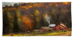 Autumn - Barn - The End Of A Season Beach Towel