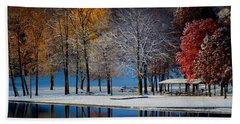 Autumn Blues Beach Towel by Rob Blair
