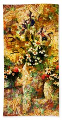 Autumn Bounty - Abstract Expressionism Beach Sheet