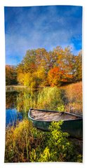 Autumn Canoe Beach Towel