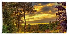 Autumn Colors Beach Sheet by Fred Larson