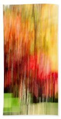 Autumn Colors In Abstract Beach Towel