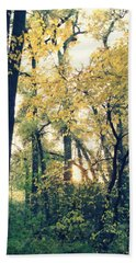 Autumn Evening Beach Towel
