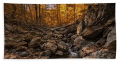 Autumn Falls Beach Towel by Edward Kreis