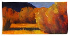 Autumn Field Beach Towel
