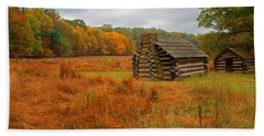 Autumn Foliage In Valley Forge Beach Sheet by Michael Porchik