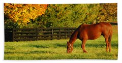 Autumn Grazing Beach Sheet