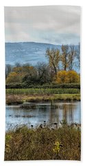 Beach Towel featuring the photograph Autumn Haven by Belinda Greb