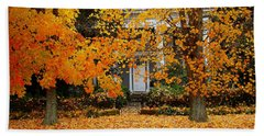 Autumn Homecoming Beach Towel
