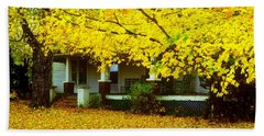 Beach Sheet featuring the photograph Autumn Homestead by Rodney Lee Williams