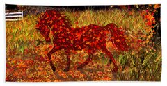 Autumn Horse Bewitched Beach Towel