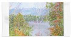 Autumn By The Lake In New Hampshire Beach Towel