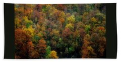 Beach Towel featuring the photograph Colours Of Autumn by Marija Djedovic