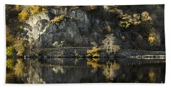 Autumn In The Lake Beach Towel