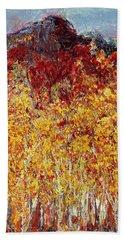 Autumn In The Pioneer Valley Beach Towel by Regina Valluzzi