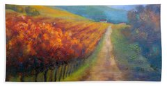 Autumn In The Vineyard Beach Towel
