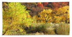 Autumn In Zion Beach Towel