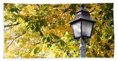 Autumn Lamp Post Beach Sheet