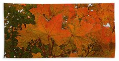 Beach Sheet featuring the photograph Autumn Leaves by Kathy Bassett