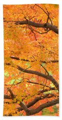 Autumn Leaves Beach Towel by Rachel Mirror