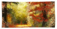 Autumn Memories Beach Towel