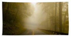 Autumn Mist Blue Ridge Parkway Beach Sheet by Terry DeLuco