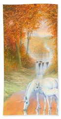 Autumn Morning Beach Towel by Andrew Farley
