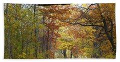 Autumn Nature Trail Beach Sheet