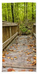 Autumn On The Bridge Beach Towel