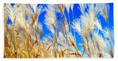 Autumn Pampas Beach Towel