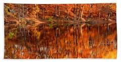 Autumn Paradise Beach Towel by Lourry Legarde