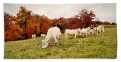 Autumn Pastures Beach Towel
