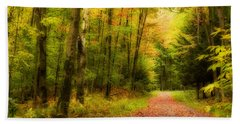 Autumn Path Beach Towel