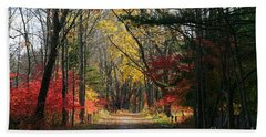 Autumn Paths    No.2 Beach Towel by Neal Eslinger