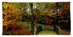 Beach Towel featuring the photograph Autumn Peace by James C Thomas