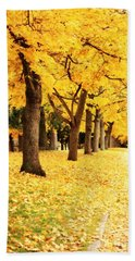Autumn Perspective Beach Towel