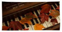 Autumn Piano 14 Beach Towel by Mick Anderson