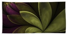 Beach Sheet featuring the digital art Autumn Plant II by Gabiw Art