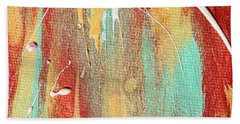 Autumn Rain Abstract Painting Beach Towel