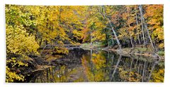 Autumn Reflecting Beach Towel