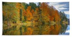 Autumn Reflection Beach Sheet