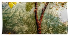 Beach Sheet featuring the photograph Autumn Reflection  by Peggy Franz