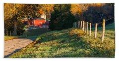 Autumn Road Morning Beach Sheet