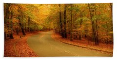 Autumn Serenity - Holmdel Park  Beach Towel