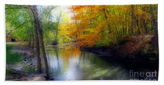 Autumn Serenity  Beach Sheet by Kay Novy