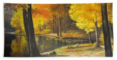 Autumn Silence  Beach Towel