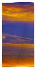 Autumn Sky Portrait Beach Towel