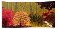 Autumn Slopes Beach Towel by Jason Williamson