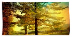 Autumn Stroll Beach Towel