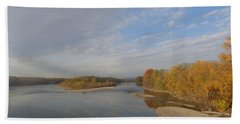 Autumn Sun At The River Beach Towel